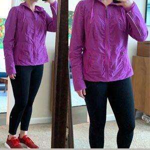 Zella Purple Zip Up Jacket with Pockets size XL